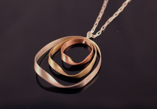 Custom Made Three Color Mobius Necklace