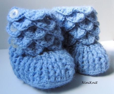 Custom Made Booties - Cashmere Baby Booties - Hand Crochet