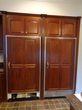 Custom Made Mahogany Refrigerator Wall