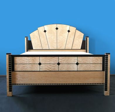 Custom Made Keystone Art Deco Bed