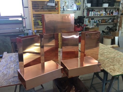 Custom Made Raw Copper Light Sconces