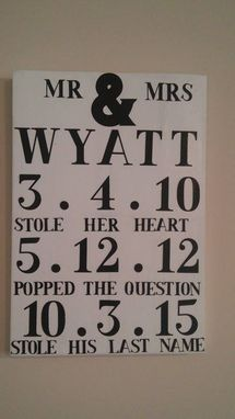 Custom Made Wedding/Engagement Date Sign