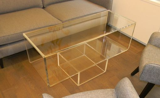 "Custom Made Acrylic ""Upside Down"" Waterfall Edge Cofee Table - Hand Crafted, Custom Sizing Always Available"