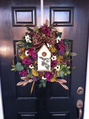 Custom Made Birdhouse Wreaths - Spring Summer Wreaths