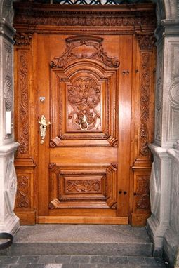 Custom Made Italian Carved Entry Door By Hercules Custom Furniture Inc Custommade Com