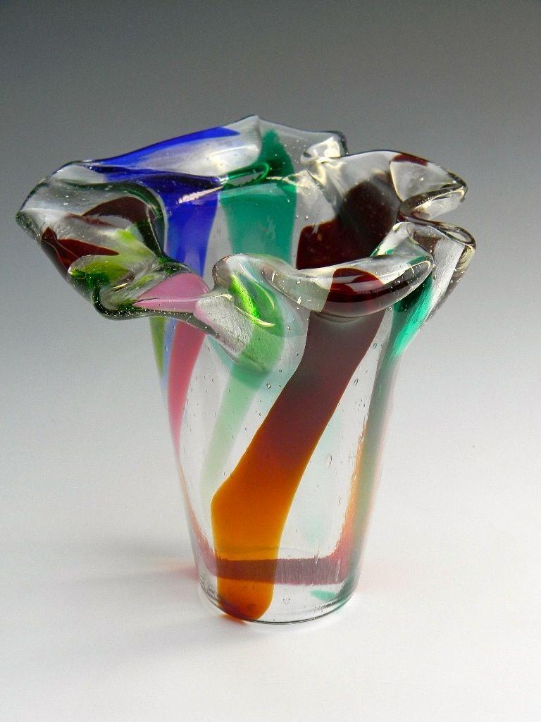 custom made contemporary fused decorative glass vases for home or office - Decorative Glass Vases