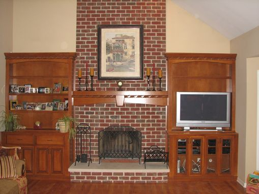 Custom Made Tuscan Fireplace