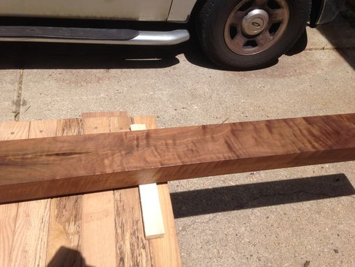 Custom Made Figured Walnut Mantle Beam - 13'6