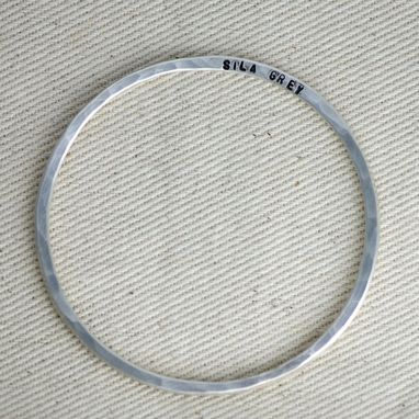 Custom Made Custom Stamped Bangle