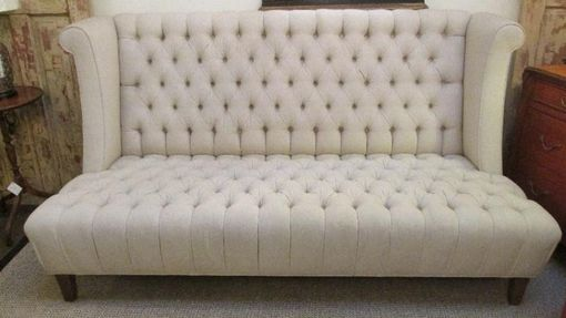 Custom Made Hi Back Tufted Sofa