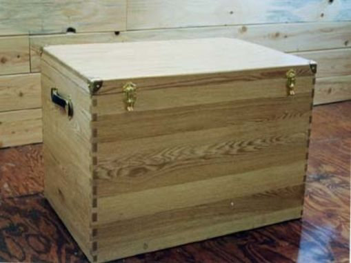 Custom Made Custom Oak Tack Box