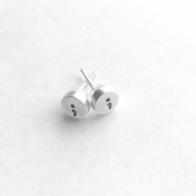 Custom Made Semi Colon Studs