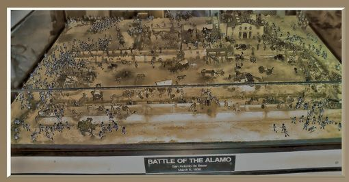 Custom Made Scale Model Of The Battle Of The Alamo