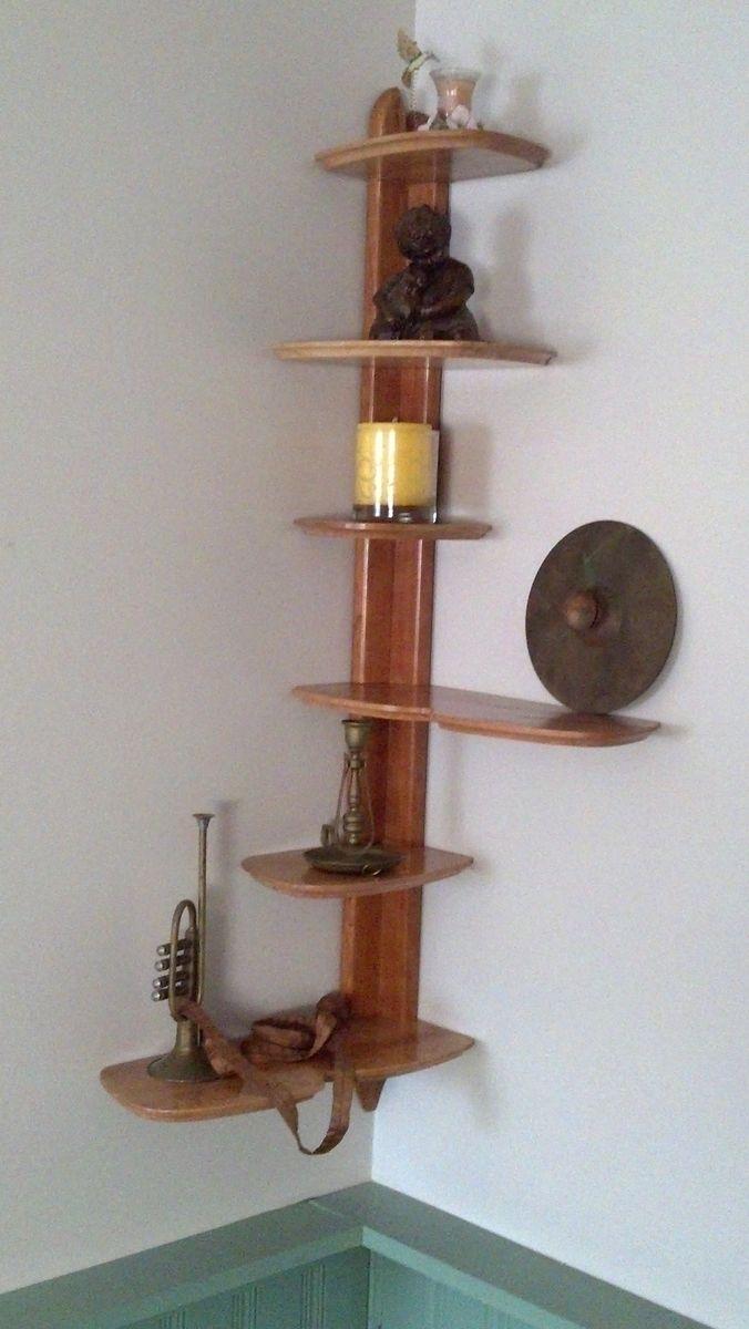 Hand Crafted Corner Shelf By Starkwood Designs