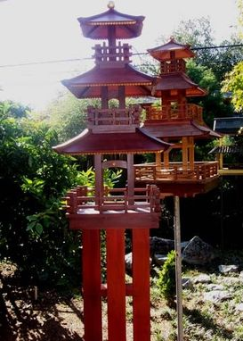 Custom Made 3 Story Japanese Bird Feeders