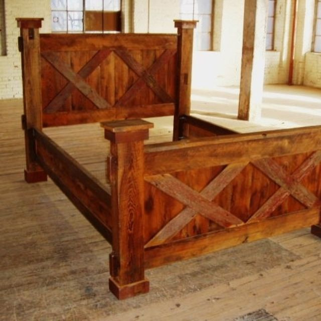 Handmade Reclaimed Barn Wood Beds - King, Queen And Day by Second ...