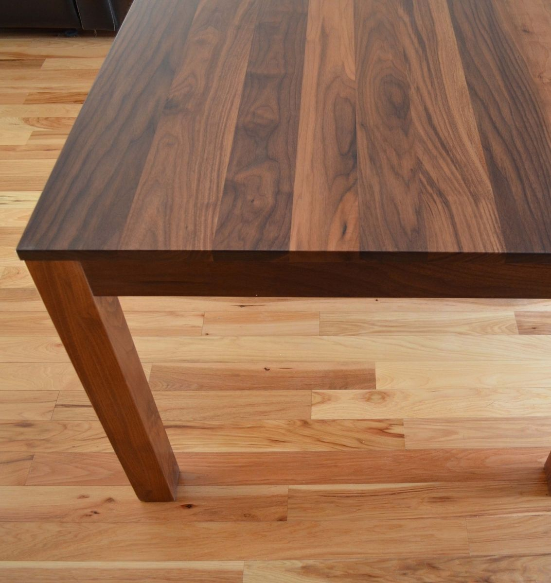 Custom made solid walnut dining table