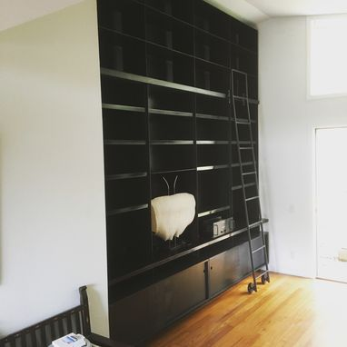 Custom Made Steel And Wood Bookcase