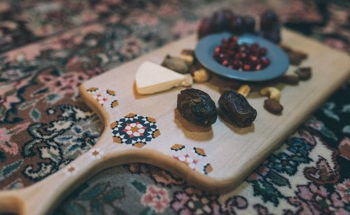 Custom Made Hand-Painted Maple (Afra) Cutting Board