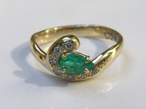 Custom Made Paraiba Tourmaline & Diamond 14k Gold Engagement Ring