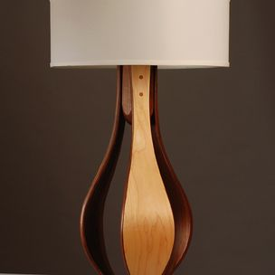 Chloe Table Lamp In Maple And Walnut By