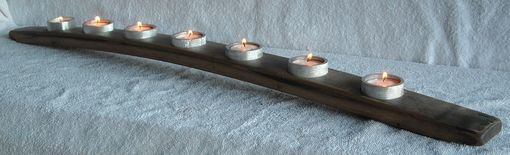 Custom Made Wine Stave Candle Holders