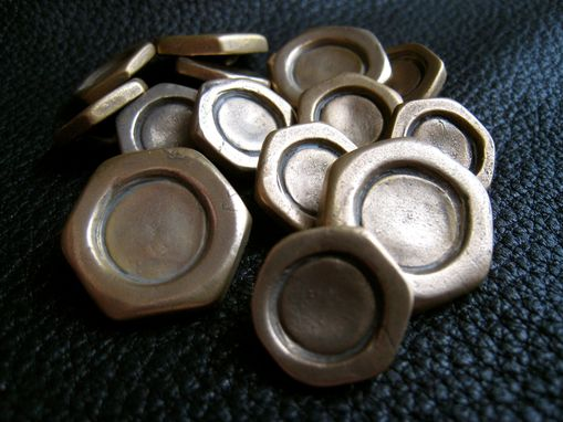 Custom Made Handyman Special Hexagonal Nut Blazer Buttons In Solid Bronze