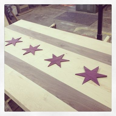 Custom Made Chicago Flag Table