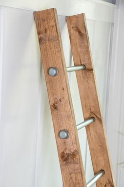 Buy A Custom Made Wooden Ladder W Industrial Pipe