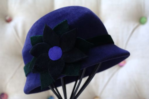 Custom Made Cloche-Style Women's Hat (Navy Blue)