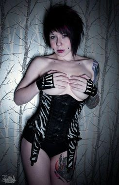 Custom Made Skeletal Latex Fingerless Gloves