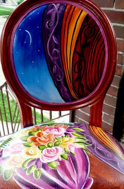 Custom Made Hand Painted Queen Anne Chairs