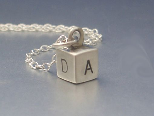 Custom Made Alphabet Charm With Hand Stamped Letters