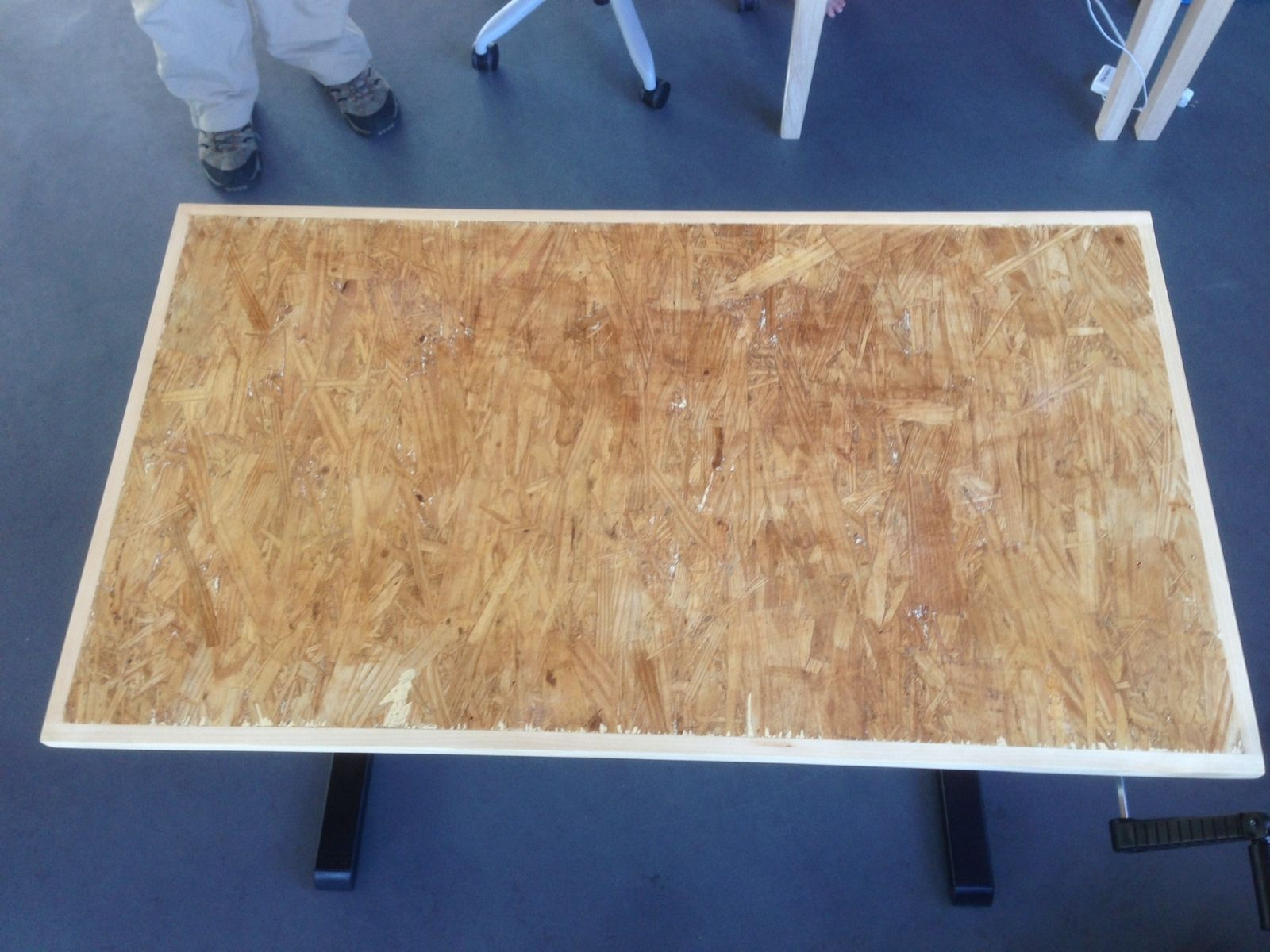 Oriented Strand Board : Hand made oriented strand board osb desktops x by m