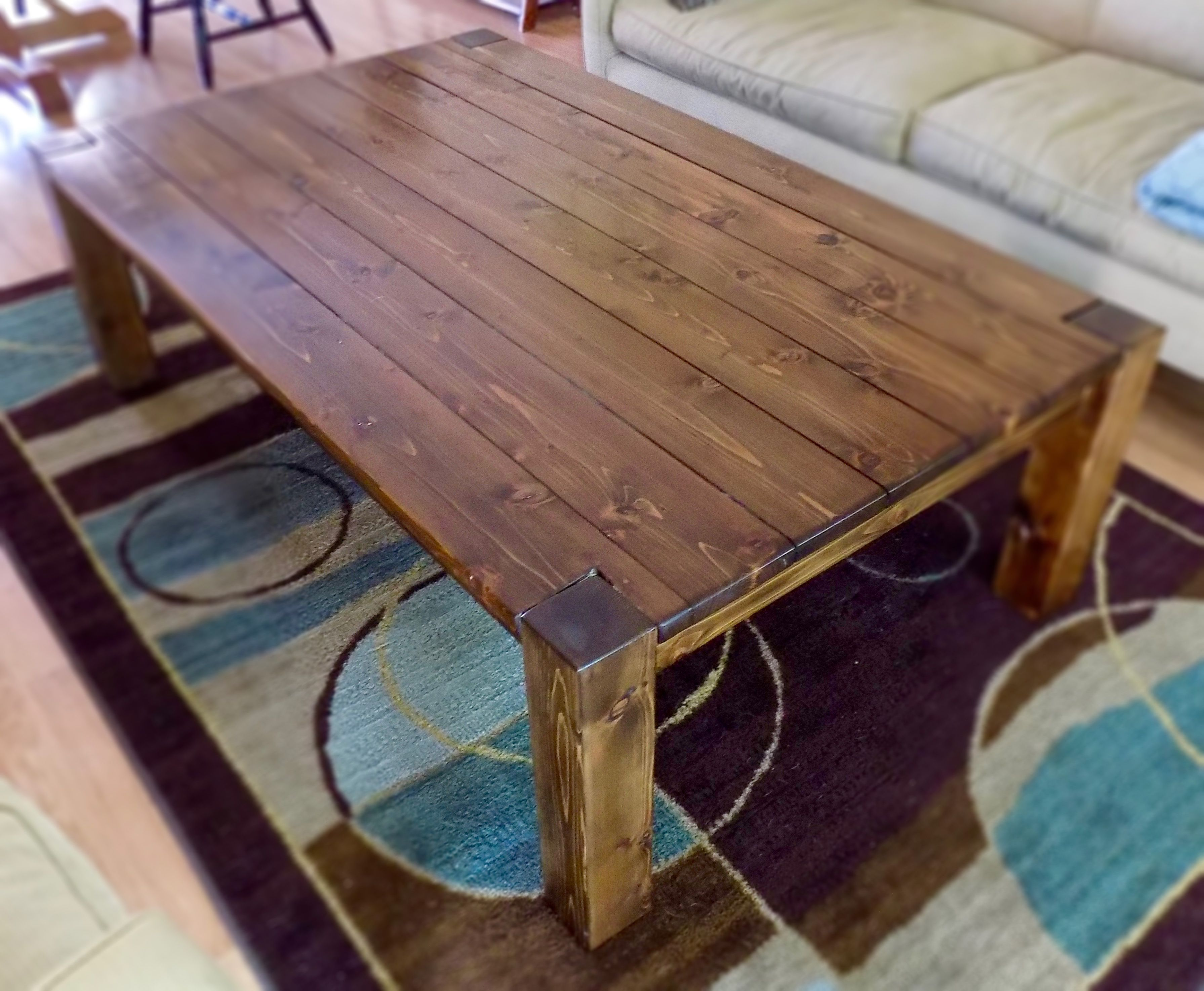 Hand Made Dark Cedar Coffee Table by Great Lakes Design LLC