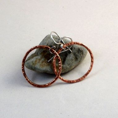 Custom Made 16-Gauge Copper Hoop Earrings