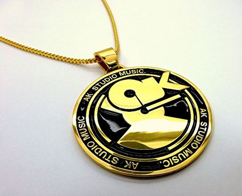Custom Made 3.5 Inches Round Logo Pendant