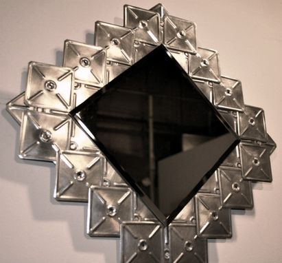 Custom Made Diamond Beveled Mirror