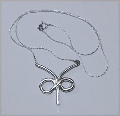 Custom Made Custom Sterling Silver Infinity Necklace
