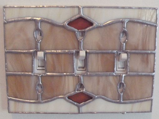 Custom Made Functional Stained Glass Art - Switchplate