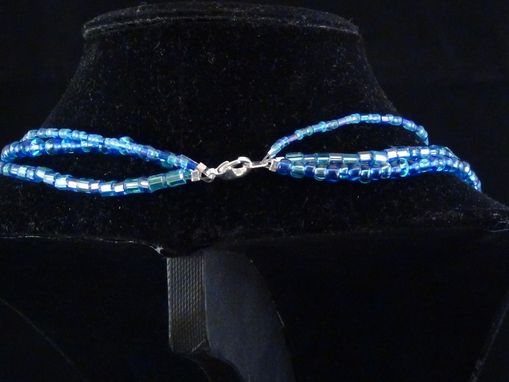 Custom Made Blue Ice Crystal Necklace