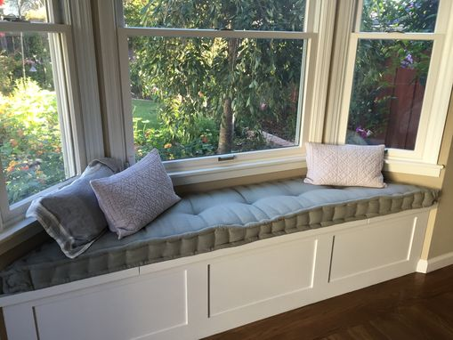 Custom Made Custom Hand Tufted Mattress Cushion - Window Seat, Bench Cushion, Day Bed Cushion