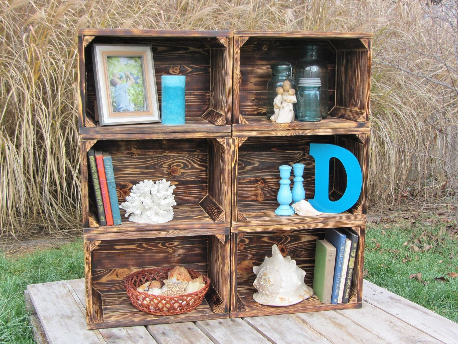 wood crate furniture. Hand Crafted Small Wood Crate Stackable Made From Reclaimed Pallets Set Of 6 By Interior | CustomMade.com Furniture