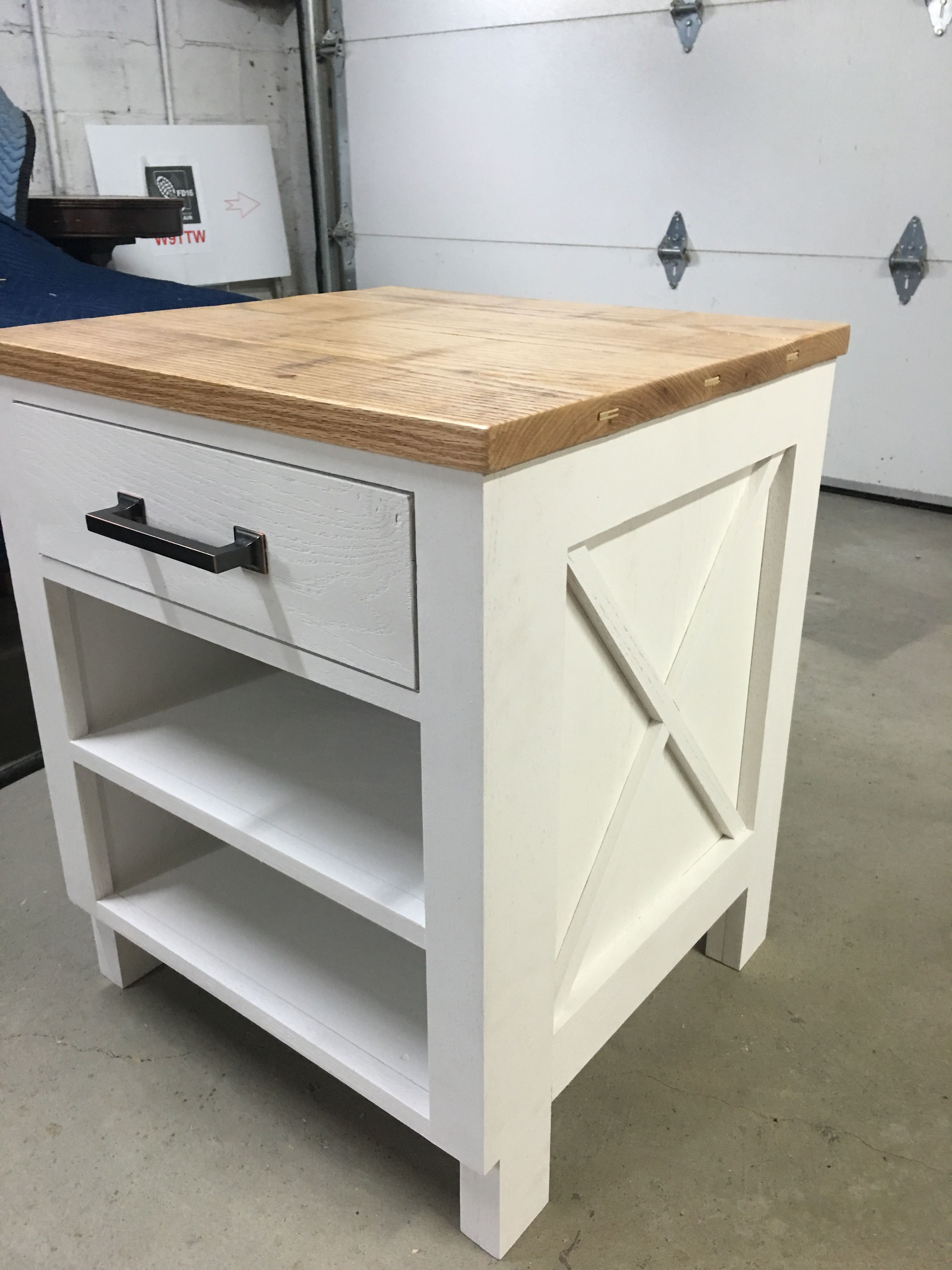 Custom Made Farmhouse Rustic Shabby Chic End Table Side Bedside