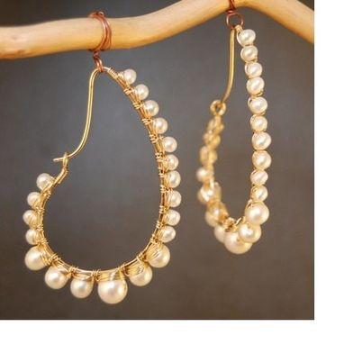 Custom Made Ivory Pearl Drop Earrings
