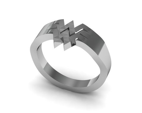 Custom Made Wonder Woman Ring In Sterling Silver
