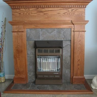Custom Made Oak Mantel
