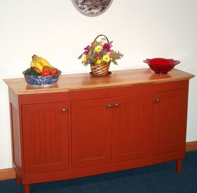 Custom Made Farmhouse Sideboard With Chestnut Top