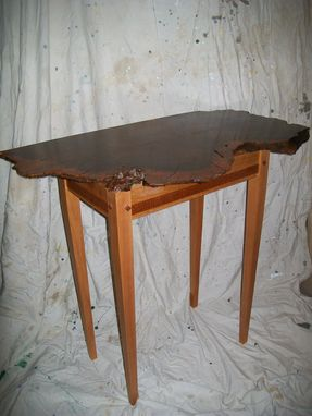 Custom Made Redwood Burl Hall Table