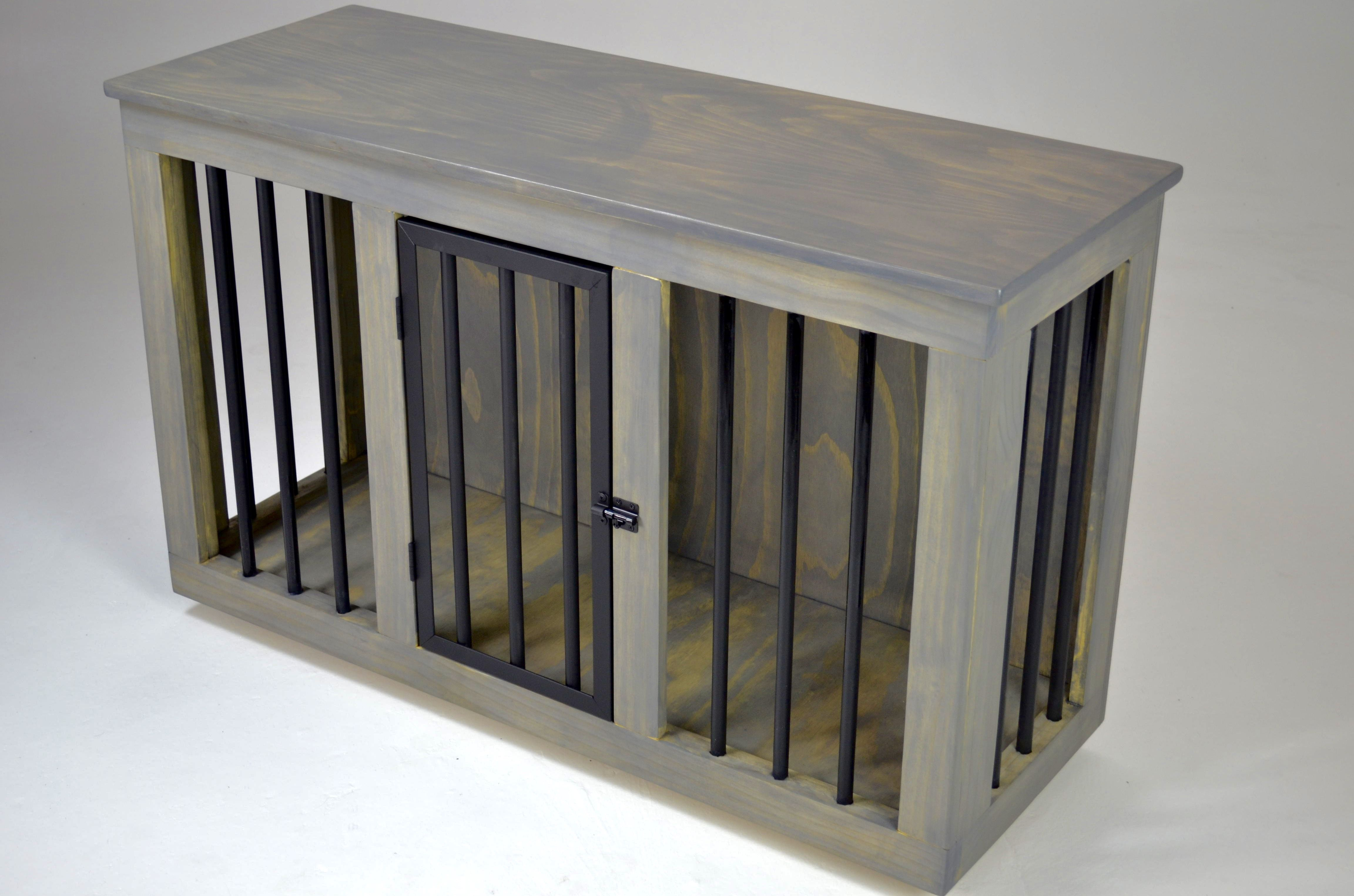 Custom Made Contemporary Dog Crate Table